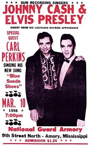 Mississippi Johnny Cash w// Elvis Presley Concert Poster