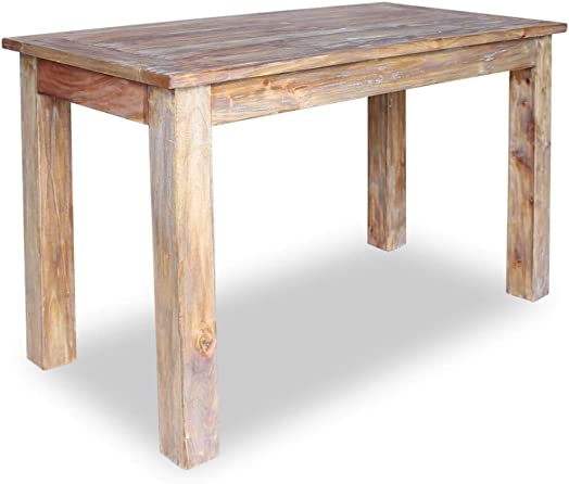 vidaXL Solid Wood Dining Table 47.2 Reclaimed Rustic Dining Room Furniture