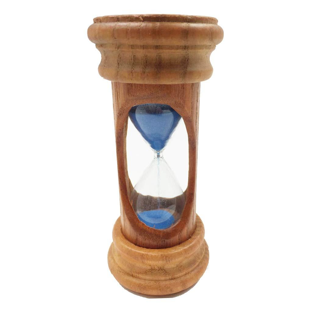 Lannmart Decorative 3 Minutes Wooden Sand Sandglass Hourglass Timer Clock Home Decor Kitchen Blue/Pink for Morden Desk Ornaments Gift