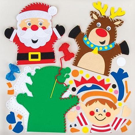 Immagini Natalizie Per Bambini.Kit Da Cucito Per Marionette Da Mano Natalizie Per Bambini Da Creare
