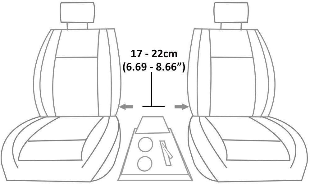 Autohobby 48015 Accoudoir central universel console centrale en similicuir avec bo/îte de rangement Gris