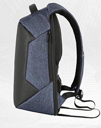 Hombre Y Hembra USB Carga Hombro Bolsa De Gran Capacidad De Negocios Al Aire Libre Mochila Anti-robo Ordenador Bolsa Red
