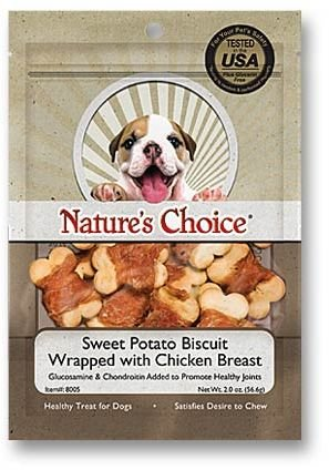 Dog Biscuits Glucosamine (Natural Value Sweet Potato Biscuit Wrapped with Chicken Breast)