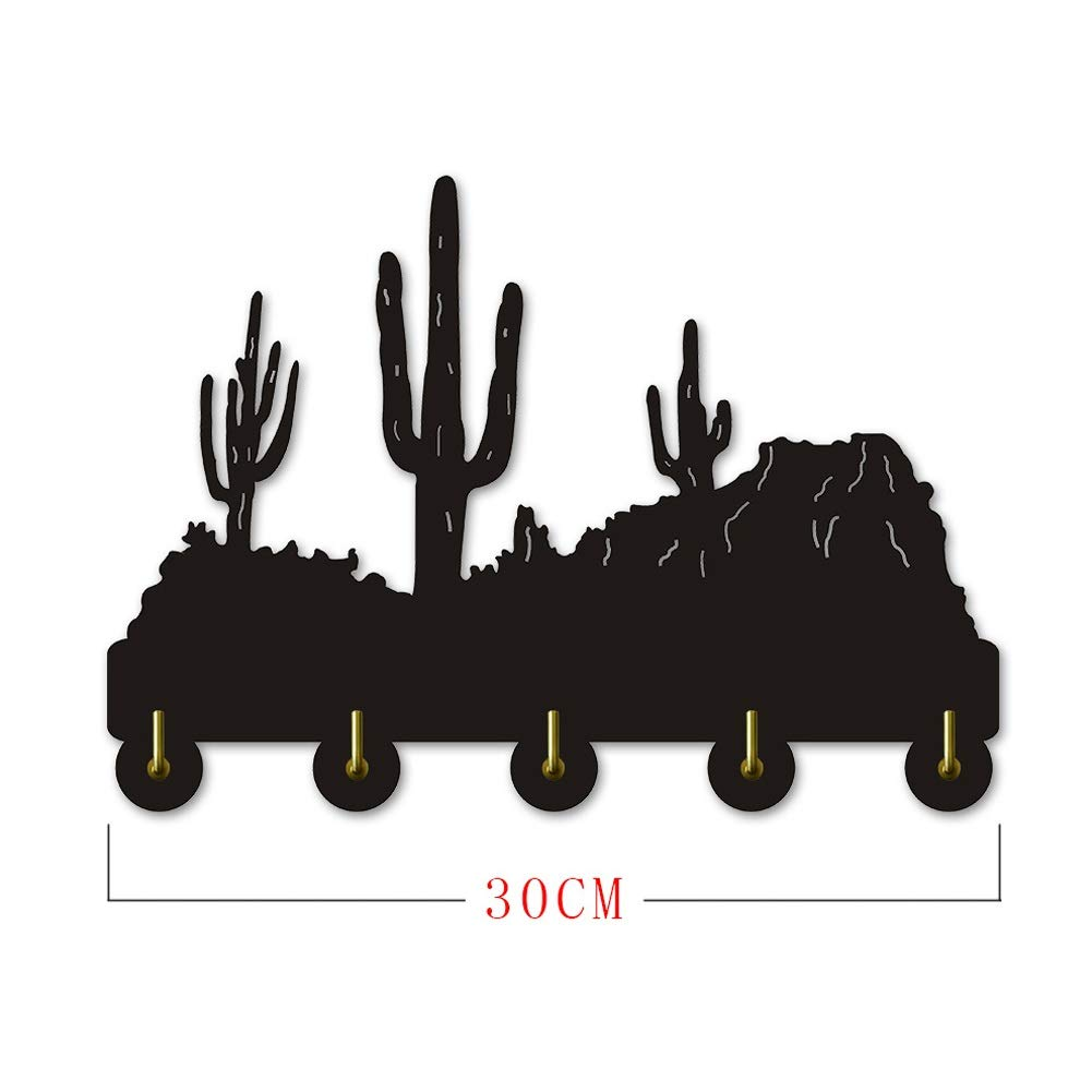 ANMY Cactus Planta Percha de Madera Ropa Sombrero Gancho ...