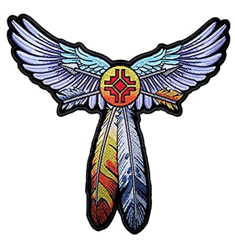 Leather Supreme Ladies Native American Indian Wings and Feathers Patch - Native American Indian Feathers