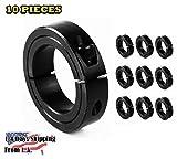 5/8'' Bore Single Split (0.63) Shaft Collar Black Oxide Set Screw Style (10 PCS)
