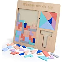 Family interactive three in one wooden tetris jigsaw puzzle digital jigsaw puzzle children's educational toy(11.69 * 11.69 * 0.27in)