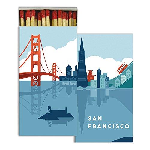 Art Deco San Francisco Cityscape Matches | Set 10 Vintage California