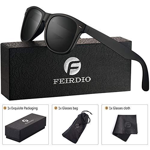 1002bc6143 Polarized Sunglasses for Men and Women - Feirdio Classic Retro Sun Glasses  Pattern Frame Mens Sunglasses 2170