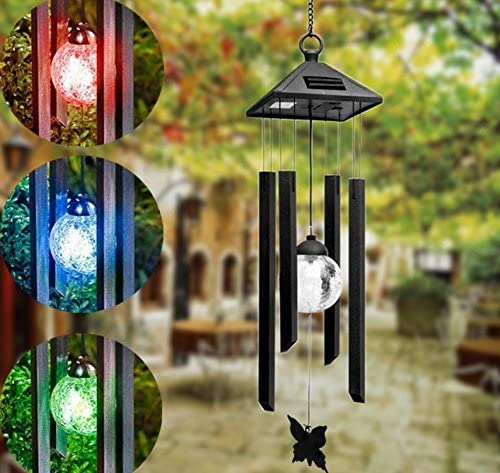 Monsiter QE Solar/Wind/Chimes LED/Color/Changing/Wind/Chime/Outdoors/Decoration/Unique/Waterproof/Wind/Chimes/for/Outside/Garden Hanging/Lights/Gifts/for/Mom