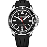 Stuhrling Original Diving Mens Watch - Pro Sport Diver with Analog Watch Dial and Screw Down Crown - Water Resistant to 200M, Japanese Quartz Movement - Maritimer Mens Watches Collection