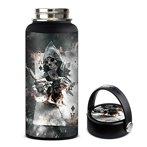 Skin Decal Vinyl Wrap for Hydro Flask 32oz Wide Mouth stickers skins cover/Ace Diamonds Grim Reeper Skull -