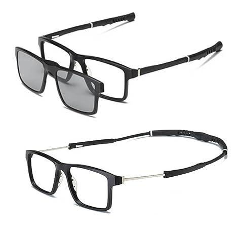 be908a2e52 SUMDA Men sport myopia Eyeglass Frame Optical basketball Glasses + 2pcs  sunglasses polarized lens - - Amazon.com