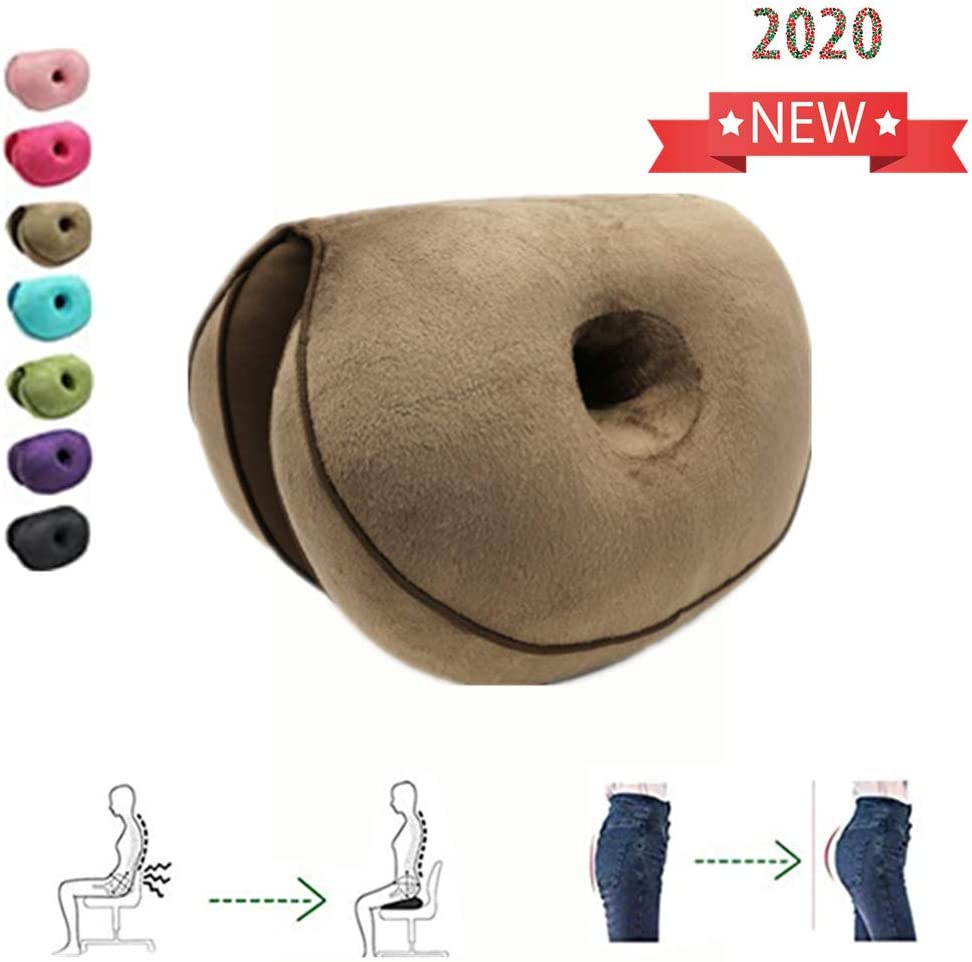 QBABY Dual Comfort Cushion Lift Hips Up Seat Orthopedic Cushion for for Pressure Relief, Fits in Car, Home, Office