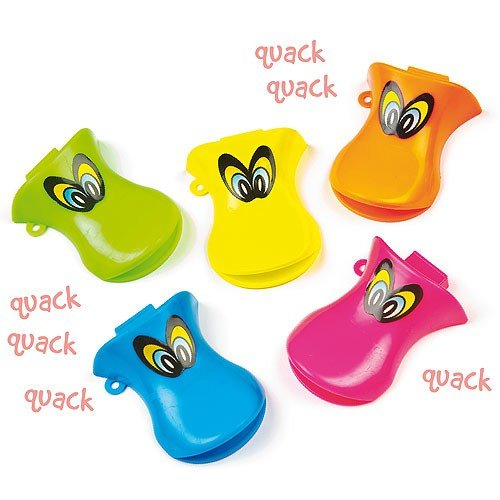 Baker Ross Duck Whistles for Children to Play Perfect Party Bag Stuffer Small Gift Idea for Kids (Pack of 6)]()