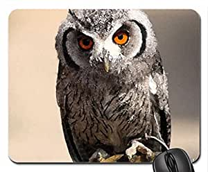 owl Mouse Pad, Mousepad (Birds Mouse Pad, Watercolor style)