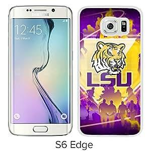 NCAA LSU Tigers 07 White Hard Shell Phone Case For Samsung Galaxy S6 Edge G9250