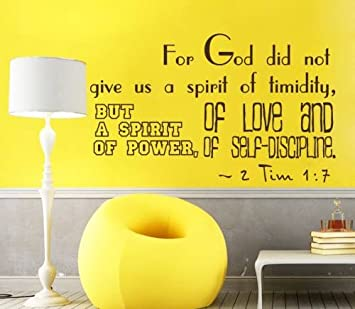Amazoncom Wall Decals Quotes Bible Verse Psalm Timothy For - Wall decals quotes bible