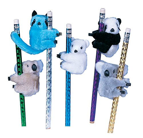 Raymond Geddes Clip-On Critter Plush Animal Clip, 24 Pack (64061)