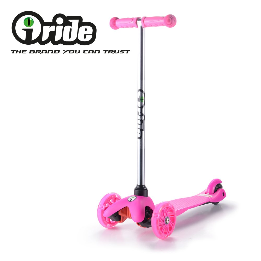 iRIDE Kick Scooter for Kids Toddler 3 Wheel Scooter, Lean to Steer, LED Light Up Wheels for Children Boys Girls from 2 to 6 Years Old