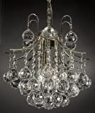 French Empire Crystal Chandelier Chandeliers Lighting , SILVER , H13 X Wd12 , 3 LightsClose Out