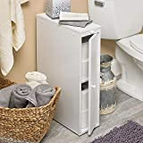 "Bathroom Cabinets 24"" Wood Slim Bathroom Cabinet"
