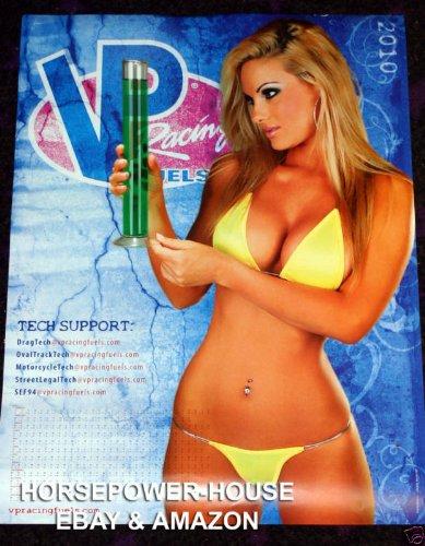 VP Racing Fuels Fuel 2010 Shop Store Drag Race Track Trailer Mechanic Calendar Poster 24 x 18 Hot Pinup Bikini Pic