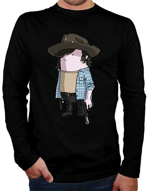 latostadora Camiseta The Walking Dead-Carl - Camiseta Hombre Manga Larga Negro Talla M: Amazon.es: Ropa y accesorios