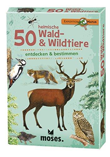 moses. 9739 - Expedition Natur 50 heimische Wald und Wildtiere, mehrfarbig