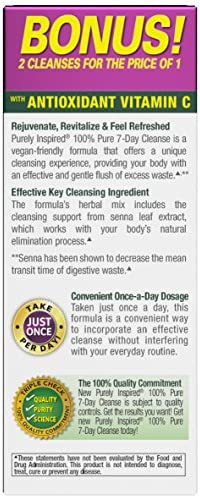 Purely Inspired Organic 7 Day Cleanse, Unique Senna Leaf Extract Formula with Antioxidant (Vitamin C), Superfruits, Probiotic & Digestive Enzymes, 42 Count (packaging may vary) 4