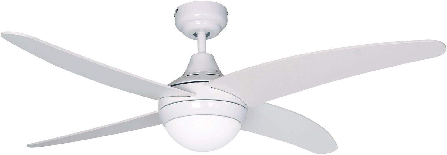 SULION Ventilador de Techo con luz Serie Anke Color Blanco