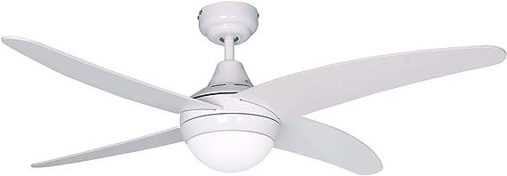 SULION Ventilador de Techo con luz Serie Anke Color Blanco: Amazon ...