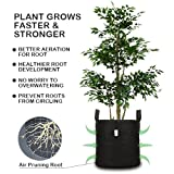 7 Gallon Grow Bags - 5 Packs Plants Fabric Growing Pots w/ Sturdy Nylon Handles, Aeration Fabric Smart Pots Ideal for Plants Growing, Portable Plants Fabric Container - Perfect for Nursery Garden