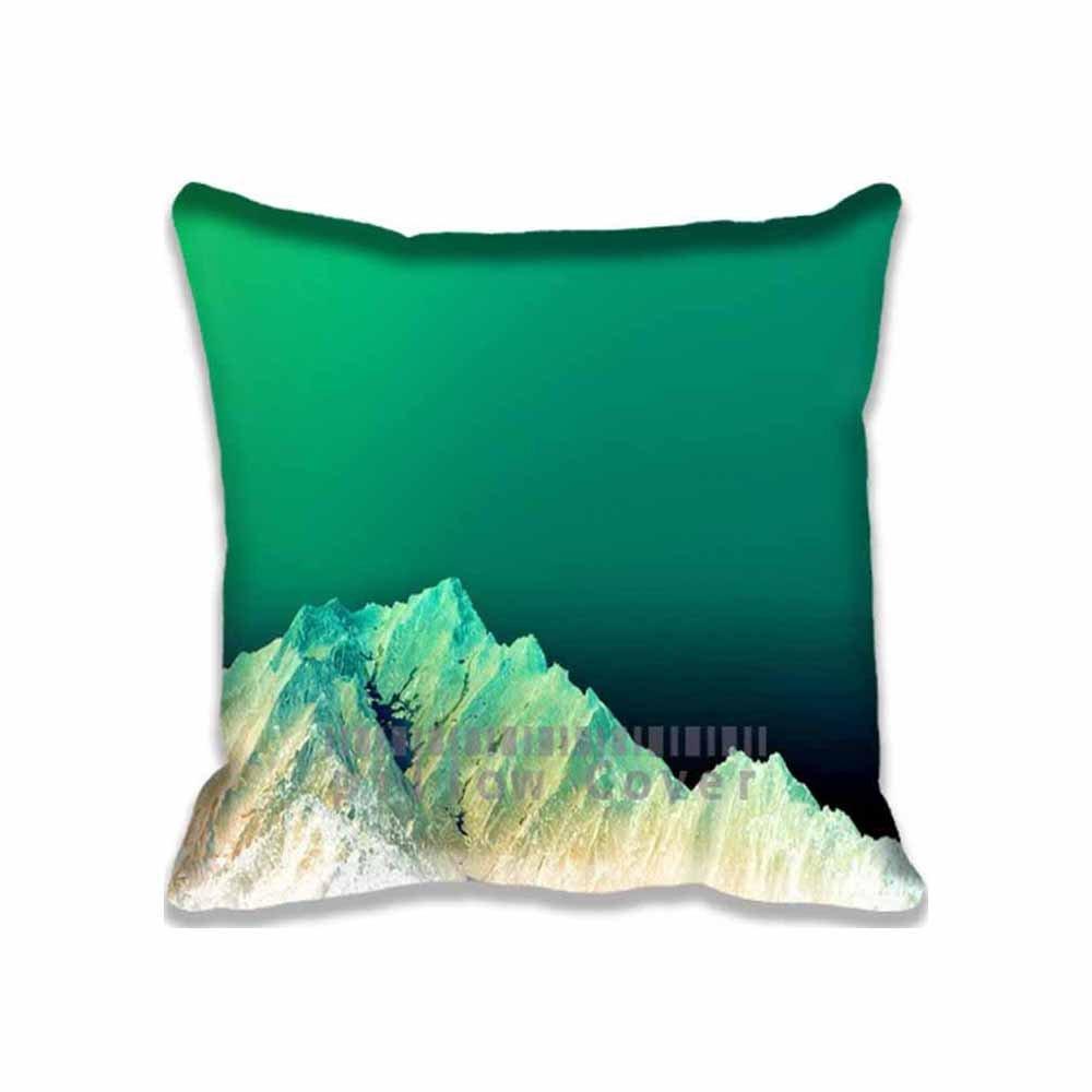 Amazon.com: Algodón y Poliéster Cuadrado Decorativo montaña ...