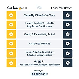 """StarTech.com 4 Bay SSD/HDD Hard Drive Eraser - 2.5"""" & 3.5"""" SATA - Hostless Standalone Secure Erase External Disk Sanitizer - 9 Erase Modes - RS232 Printer Port - NIST/DOD & TAA Compliant (SATERASER4)"""