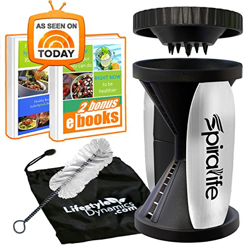 Spiralife Vegetable Slicer (2 Blade - Handheld, (Spiral Maker)