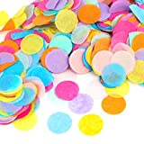 Kesoto 1 inch Multicolor Round Tissue Confetti for Party Wedding Decorations, 10000 Pieces
