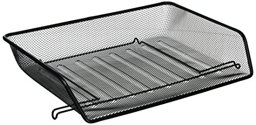 Lorell Letter Tray, Side Load, 14-1/4 x 10-3/4 x 3 Inches, Steel Mesh/Black (Lorell Side Table)