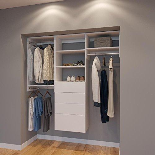 Storage 72' Closet (Modular Closets 6 FT Closet Organizer System - 72 inch - Style A)