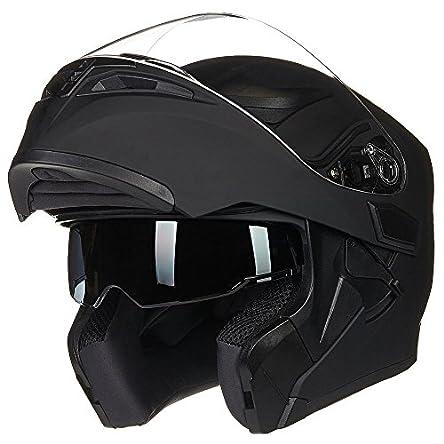 ILM Motorcycle Dual Visor Flip up Modular Full Face...