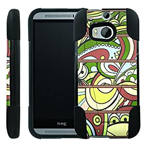 [ManiaGear] Rugged Armor-Stand Design Image Protect Case (Art Pattern) for HTC One M8