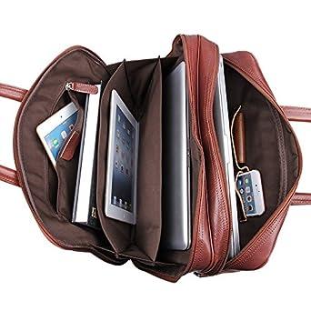 Jsix da Uomo Vera Pelle Ventiquattrore Lavoro Cartella Portadocumenti  Tracolla (marrone)  Amazon.it  Abbigliamento 73e764fda0e