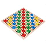 Zerodis Multiplication Times Tables, Wooden Maths Mathematics Early Educational Learning Blocks Board Game Children Pre-School Toy