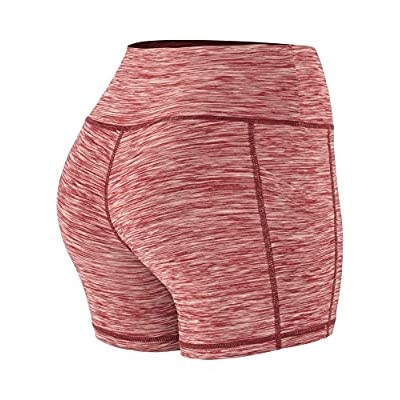 Cadmus High Waist Yoga Hot Shorts for Women Tummy Control Workout Shorts Out Pockets: Clothing