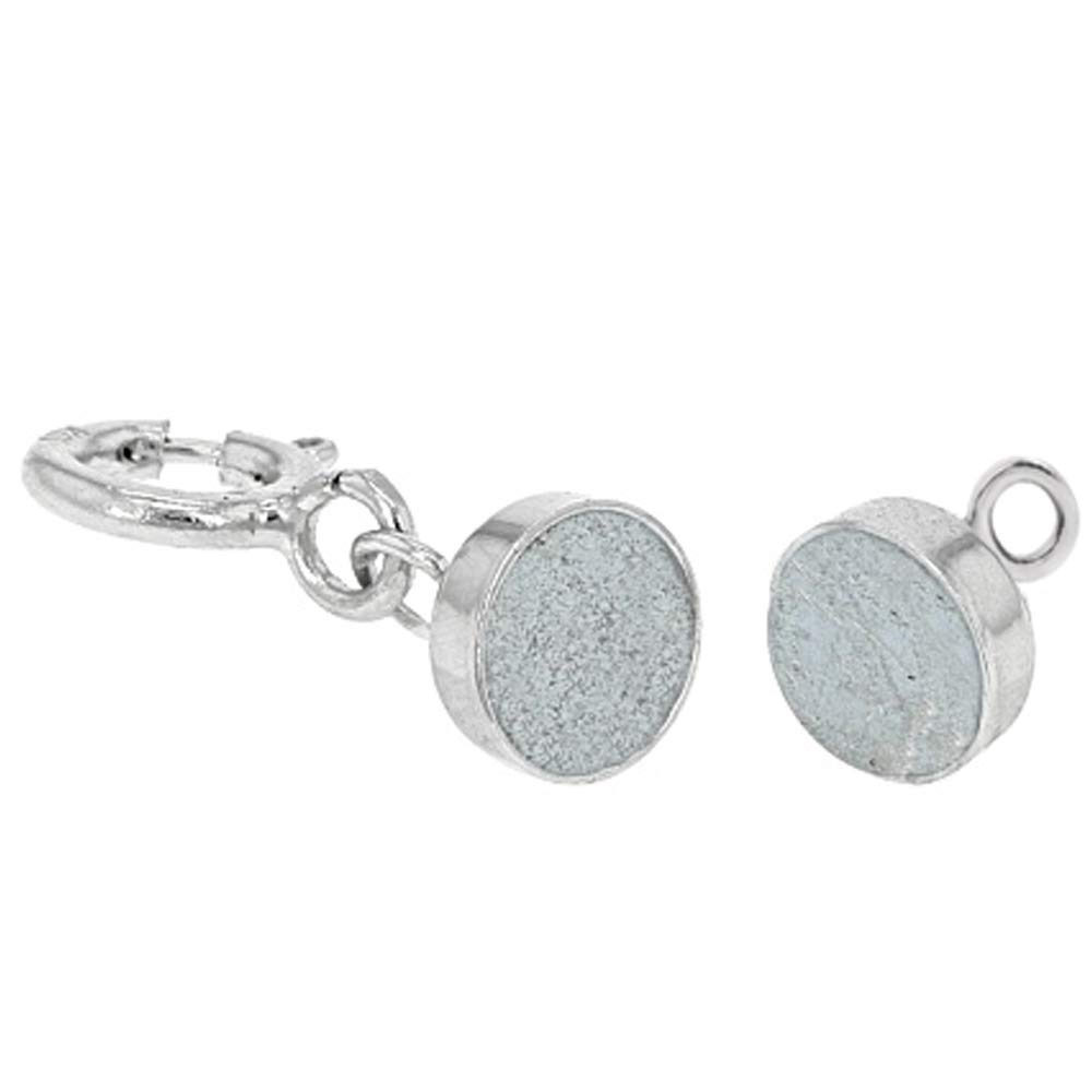 4 - New Solid 14K White Gold Round Magnetic Clasps w/ 14K White Gold 5mm Spring Ring Clasp for Necklaces, Bracelets, and Anklets. - Jewelry By Sweetpea by Jewelry By Sweetpea (Image #2)