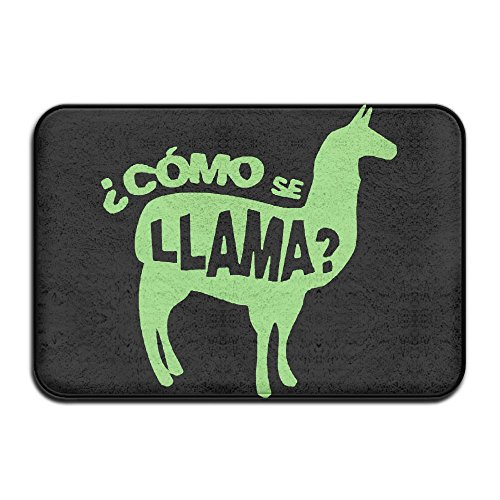 Door Mat Llama Non-slip Stain Fade Resistant Soft Living Dining Room Rug For Front Door Entrance Outside Doormat (Misses Halloween Pajamas)