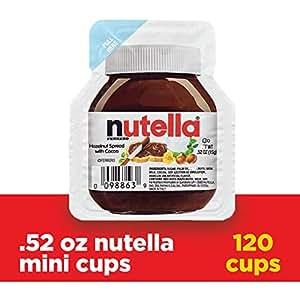 Nutella Chocolate Hazelnut Spread, Single Serve Mini Cups,  52 oz  each,  120 Count