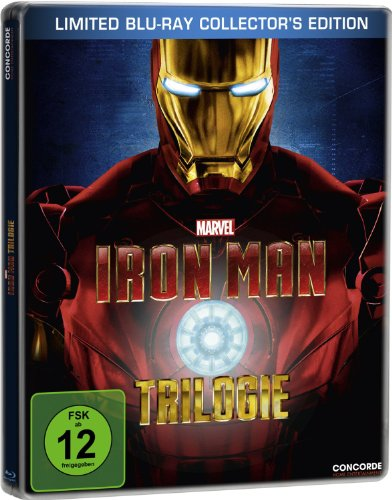 Iron Man Trilogy 1 2 3 Limited German - Iron Man Steelbook