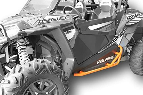 Orange Slider - Polaris RZR 900 Trail, 900S, 1000S, XP1000, Turbo, Nerf Bars Rock Sliders - Orange