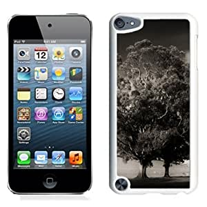 Fashionable Custom Designed iPod Touch 5 Phone Case With Spooky Gray Trees_White Phone Case
